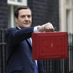 George Osborne with despatch box