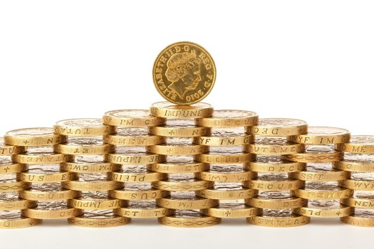 Deposit Coin British Cash Bank Stack Business